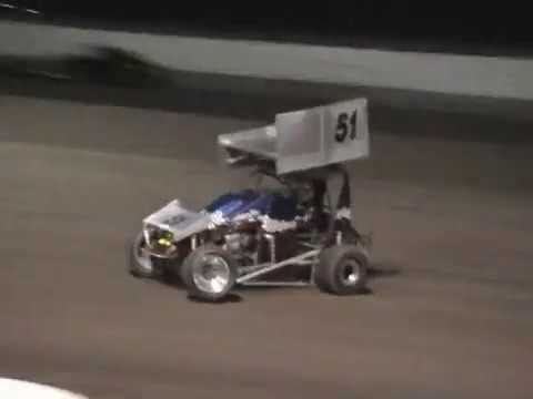 We met some people at the track with the same last name and I made a video of them racing their Mini Sprint, as seen from the pits. Also, some Sprint cars ... - dirt track racing video image
