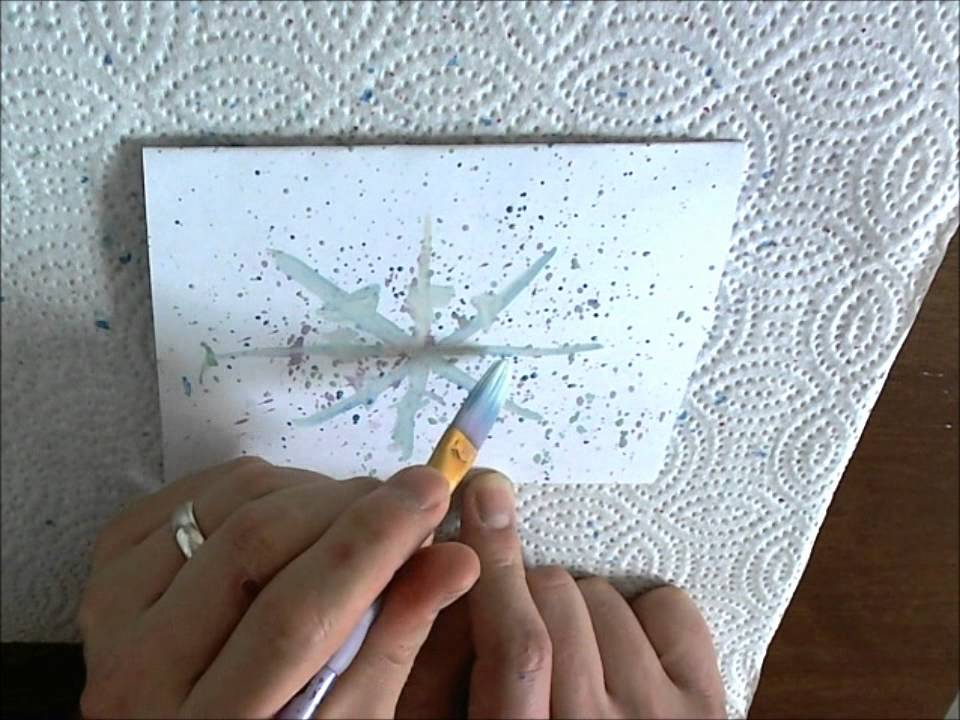 Make Your Own Holiday Cards - Snowflakes