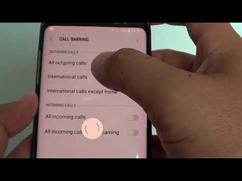 Samsung Galaxy S8: How to Setup Call Barring - YouTube