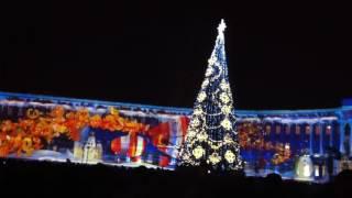 Санкт-Петербург 2016 Новый Год световое шоу на Дворцовой площади
