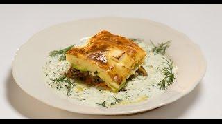 Мусака с бараниной и огуречным соусом | Мясо. От филе до фарша
