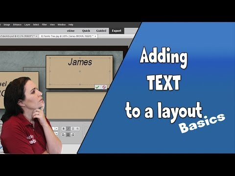 Adding Text to Scrapbooking Layouts in Photoshop Elements