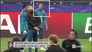 Cristiano Ronaldo défie Zidane à l'entrainement
