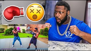THE PRINCE FAMILY 1 VS 1 BOXING MATCH AGAINST MY DAD!! **WHY I RECORDED THEM BOX**
