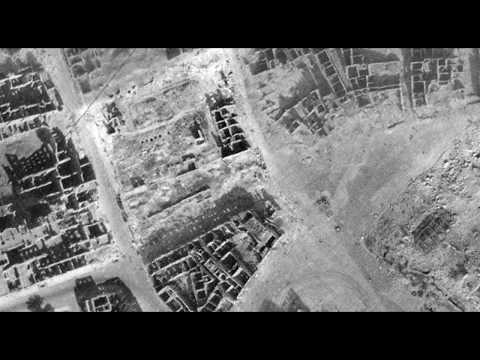 The Ruins of Warsaw 1945 (aerial) HD