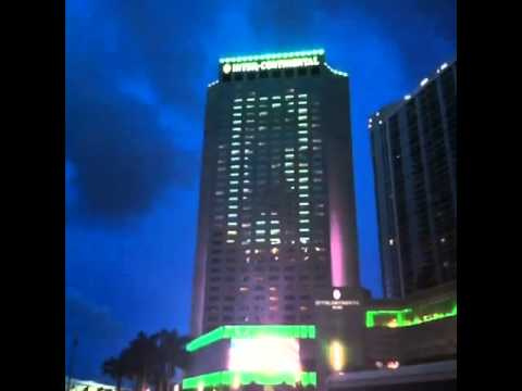 Led Light Show Intercontinental Hotel Miami