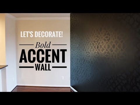How To Make a Bold Accent Wall | Living Room Wall Decor Ideas