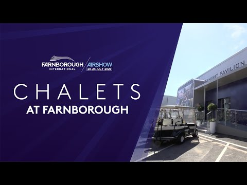 Chalets at Farnborough International Airshow 2020
