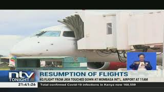 Nairobi-Mombasa flights resume following lifting of 'lockdown'