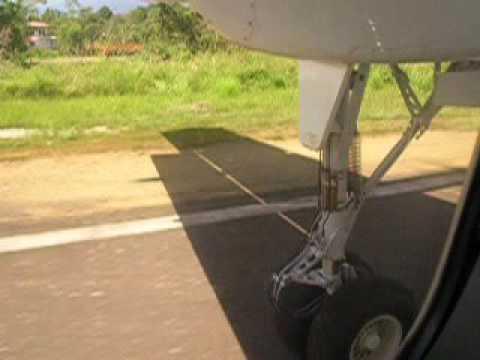 Landing at Soroako, South Sulawesi, Indonesia