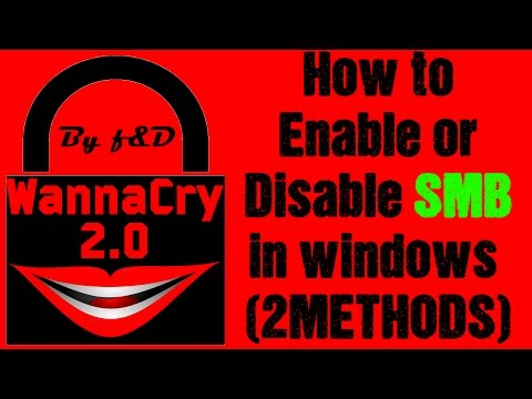 How to Disable or Enable SMB v1 in windows to prevent your