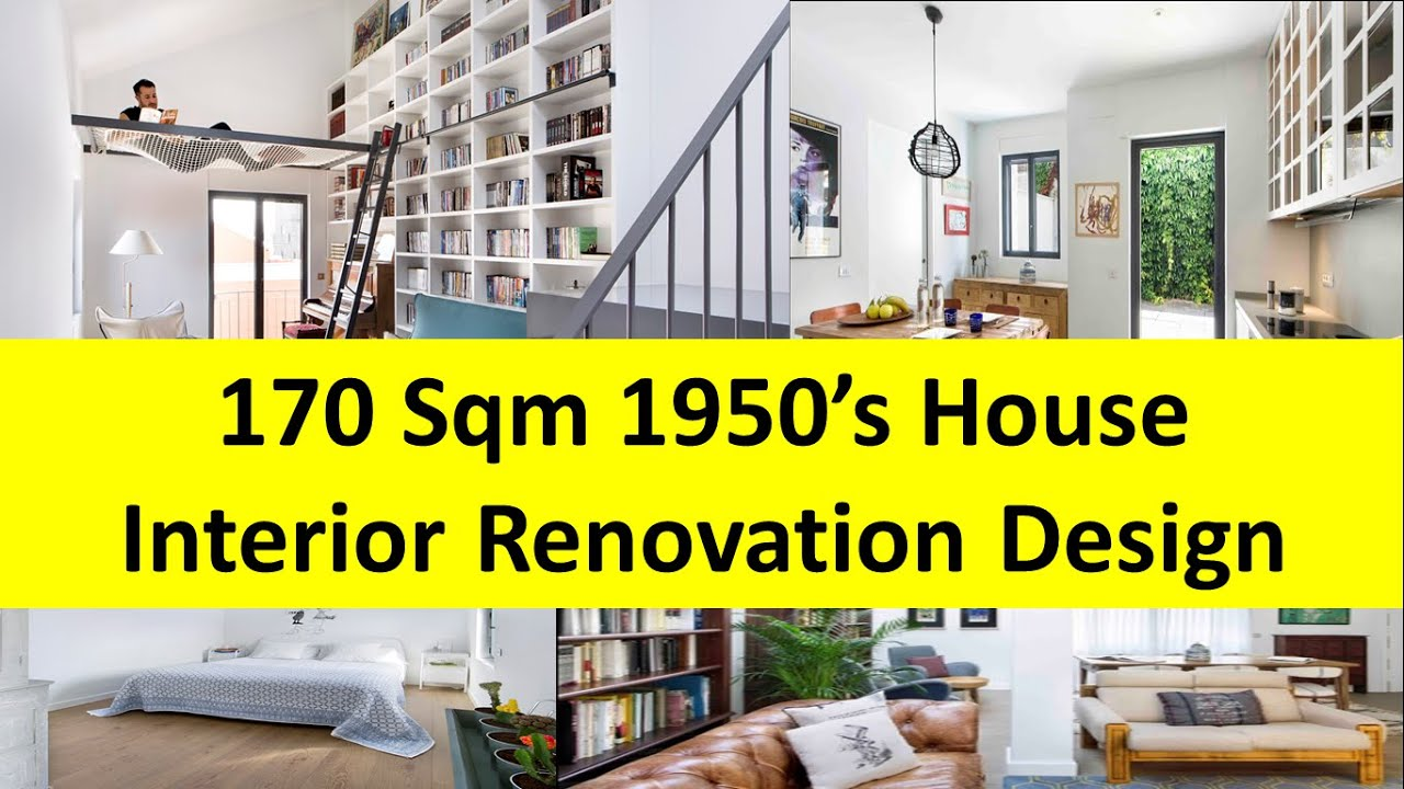 1950s house interior. 170 Sqm 1950 S House Interior Renovation Design Idea  YouTube
