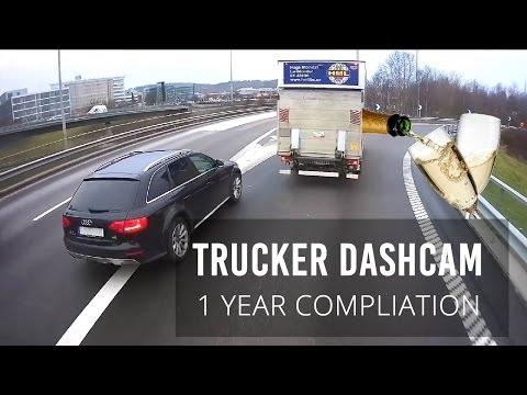 Trucker Dashcam # 1 Year anniversary // Best of compilation
