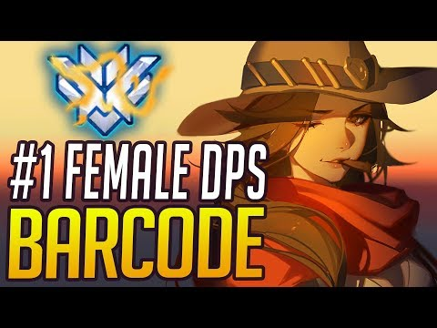 BEST OF BARCODE - RANK 1 FEMALE DPS | Overwatch Barcode Montage & Esports Facts