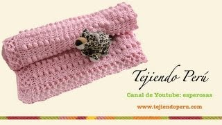 Mantita para bebe en crochet y aguja circular (Parte 1)