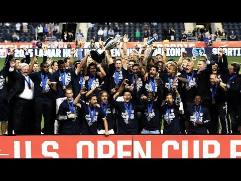 SLOW MOTION: Sporting KC Lifts The Lamar Hunt U.S. Open Cup Trophy