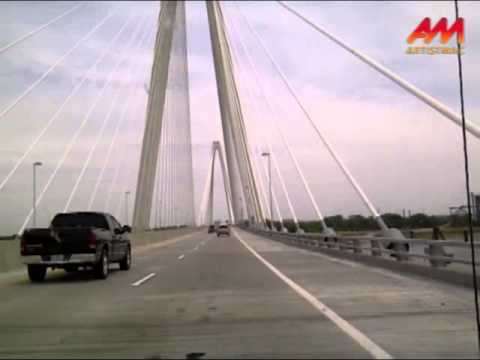 Crossing the Mississippi River on the Stan Musial Memorial Bridge