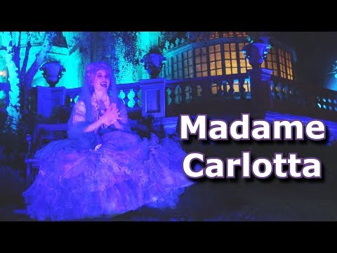 Madame Carlotta tells Backstory of Madame Leota & Calls out Panda! 2018 Halloween Party