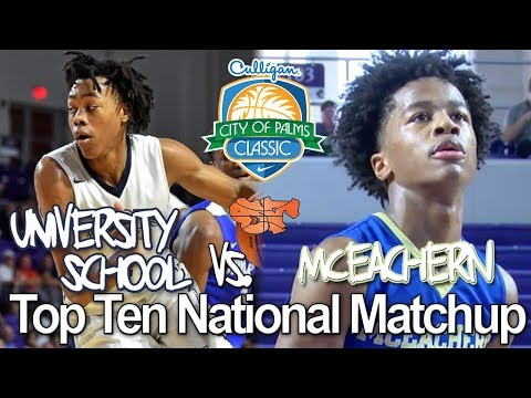 Mceachern vs University School Top Ten National Matchup   City Of Palms 2017