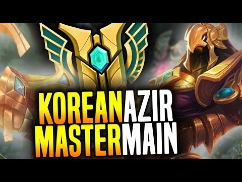 KOREAN Master AZIR MAIN Shows you the POWER of NEW AZIR! | B