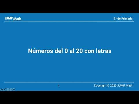 2º. Unidad 2.Números del 0 al 20 con letras