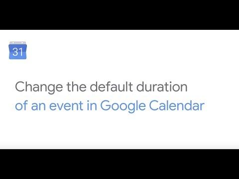 Change the default duration in Google Calendar