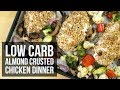 Low-Carb Keto Almond Crusted Chicken | Easy One Pan Dinner Recipe by Forkly