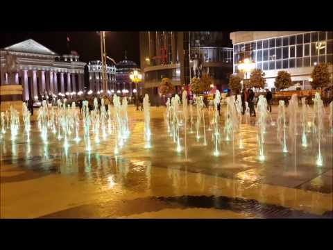 Macedonia Square with Hotel Marriott & Fountains, Skopje, Macedonia