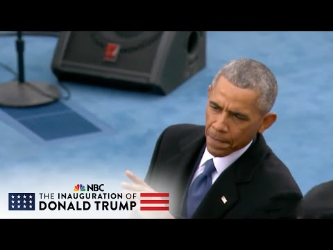President Obama Greets Former Presidents on Inauguration Stage | NBC News