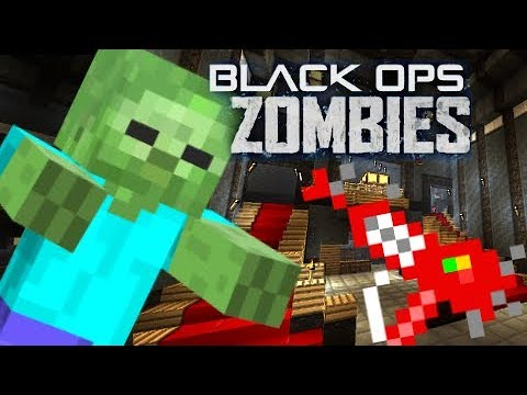 """CALL OF DUTY ZOMBIES In MINECRAFT """"Kino Der Toten"""" ZOMBIES SURVIVAL MAP"""