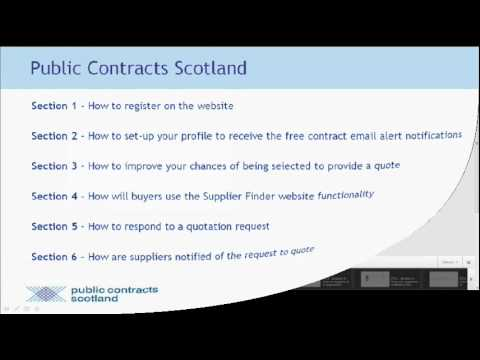 Public Contracts Scotland - Supplier Tutorial