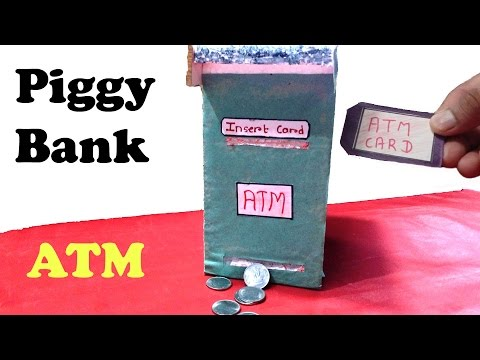 How to Make Piggy Bank ATM Machine at Home | DIY | for Kids