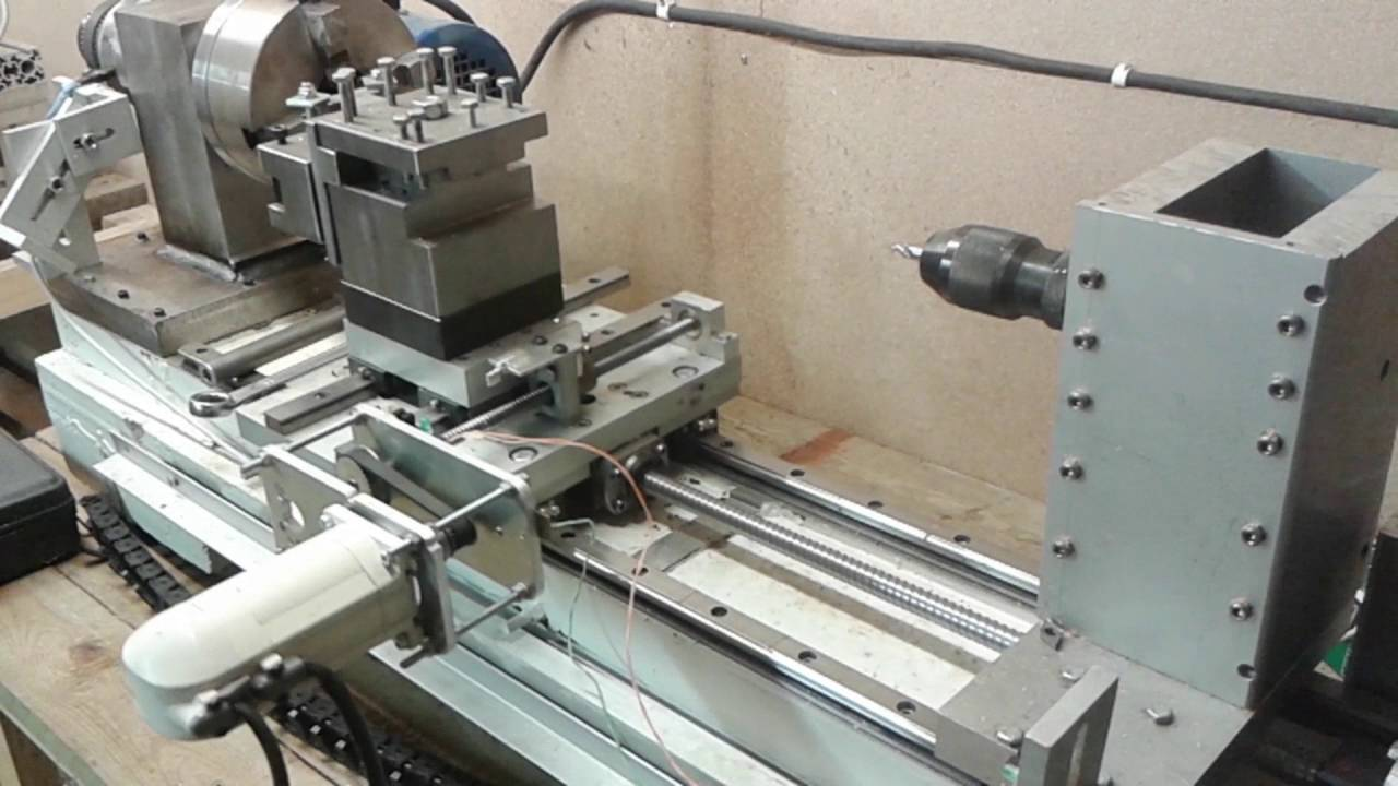 Diy cnc metal lathe, first full program with ac servos