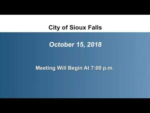 2018-10-15  Sioux Falls Council Meeting - 2757