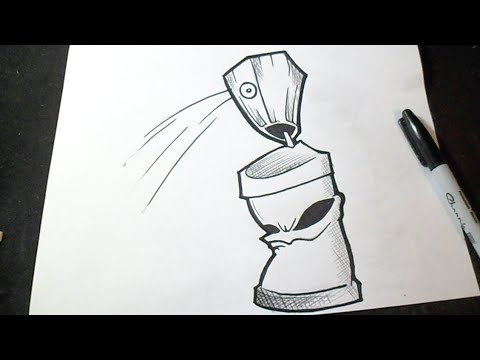 How to Draw Spraycan Graffiti  YouTube