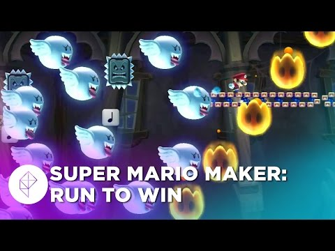 Whatever you do, DO NOT stop running in this ridiculous Super Mario Maker level