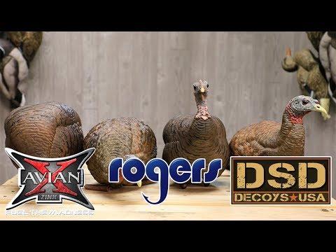 Turkey Decoy Comparison - Avian-X & Dave Smith Decoys