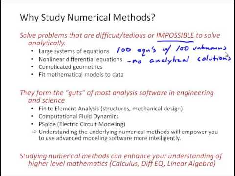 NM1 2 Numerical Methods Overview