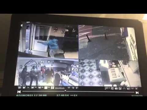 CCTV stabbing in Rochdale