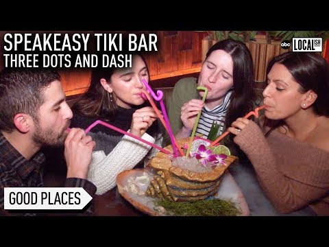 Three Dots And Dash: Speakeasy Tiki Bar Is Chicago ULTIMATE Escape | My Go-To