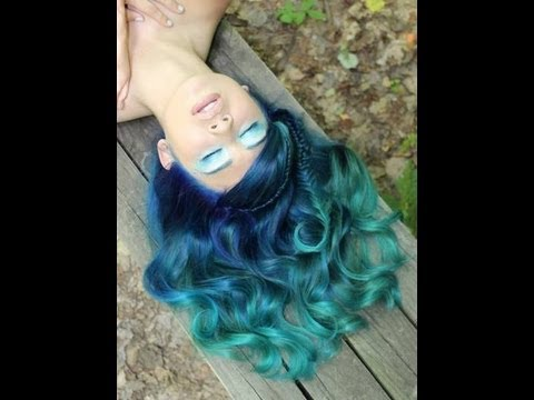 Atomic Turquoise Manic Panic Hair Coloring Tutorial For First Timers You