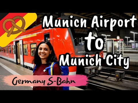Munich airport to Munich city by metro train (S-bahn)