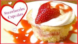 Strawberries Cupcakes ♥
