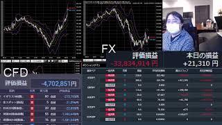 1億円でFXなう!ライブ配信(垂れ流し雑談)