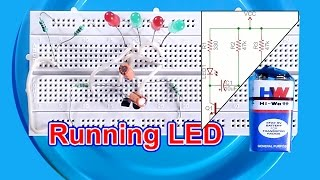 LED flasher/ Running LED circuit how to make
