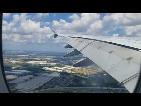 Qantas A380 Arriving At Dallas/Fort Worth International From Sydney, Australia.