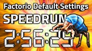 """Factorio """"Default Settings"""" Speedrun in 2:56:25 by AntiElitz"""