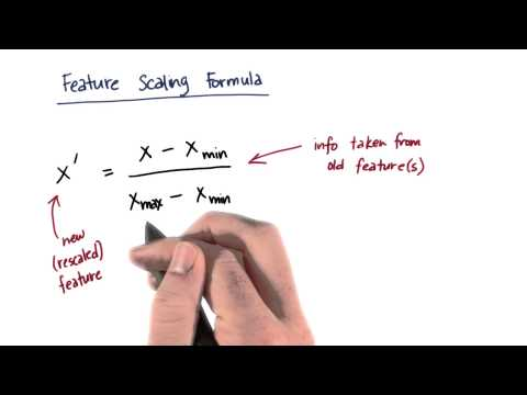Feature Scaling Formula Quiz 1 - Intro to Machine Learning