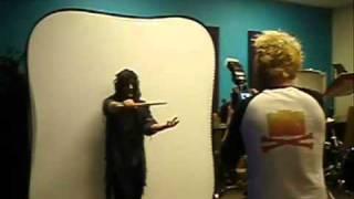 Slipknot's Joey Jordison shoot for his bloody Pro-Mark sticks