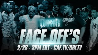 GENESIS FACE OFF'S LIVE ON CAFFEINE (3PM EST 2/28)